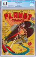 Golden Age (1938-1955):Science Fiction, Planet Comics #7 (Fiction House, 1940) CGC VG+ 4.5 Cream tooff-white pages....