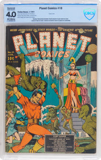 Planet Comics #10 (Fiction House, 1941) CBCS Restored VG 4.0 (SA) Off-white pages