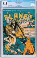 Golden Age (1938-1955):Science Fiction, Planet Comics #19 (Fiction House, 1942) CGC FN- 5.5 Off-white towhite pages....