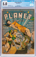 Golden Age (1938-1955):Science Fiction, Planet Comics #18 (Fiction House, 1942) CGC VG/FN 5.0 Cream tooff-white pages....