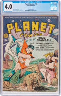 Golden Age (1938-1955):Science Fiction, Planet Comics #14 (Fiction House, 1941) CGC VG 4.0 Off-whitepages....