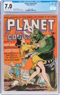 Golden Age (1938-1955):Science Fiction, Planet Comics #23 (Fiction House, 1943) CGC FN/VF 7.0 Cream tooff-white pages....
