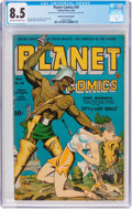 Golden Age (1938-1955):Science Fiction, Planet Comics #30 Extra Cover (Fiction House, 1944) CGC VF+ 8.5Off-white to white pages....