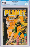 Golden Age (1938-1955):Science Fiction, Planet Comics #35 (Fiction House, 1945) CGC VF/NM 9.0 Off-white towhite pages....