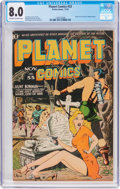 Golden Age (1938-1955):Science Fiction, Planet Comics #33 (Fiction House, 1944) CGC VF 8.0 Off-white towhite pages....