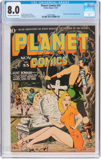 Planet Comics #33 (Fiction House, 1944) CGC VF 8.0 Off-white to white pages
