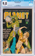 Golden Age (1938-1955):Science Fiction, Planet Comics #36 (Fiction House, 1945) CGC VF/NM 9.0 Off-whitepages....