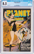 Golden Age (1938-1955):Science Fiction, Planet Comics #39 (Fiction House, 1945) CGC VF+ 8.5 Off-white towhite pages....