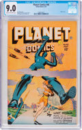 Golden Age (1938-1955):Science Fiction, Planet Comics #48 (Fiction House, 1947) CGC VF/NM 9.0 Cream tooff-white pages....