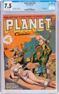 Golden Age (1938-1955):Science Fiction, Planet Comics #26 (Fiction House, 1943) CGC VF- 7.5 Off-whitepages....