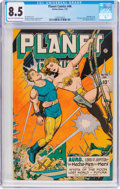 Golden Age (1938-1955):Science Fiction, Planet Comics #46 (Fiction House, 1947) CGC VF+ 8.5 Light tan tooff-white pages....