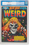 Golden Age (1938-1955):Horror, Blue Bolt Weird Tales #115 Spokane Pedigree (Star Publications, 1952) CGC NM+ 9.6 Off-white to white pages....