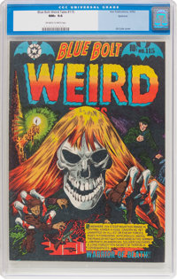 Blue Bolt Weird Tales #115 Spokane Pedigree (Star Publications, 1952) CGC NM+ 9.6 Off-white to white pages