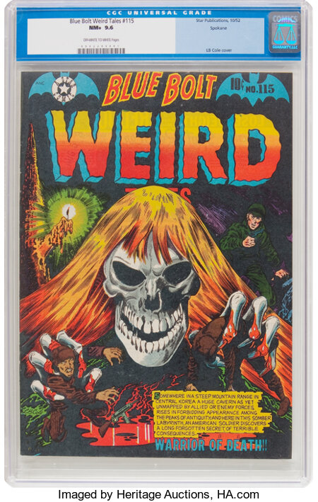 Blue Bolt Weird Tales #115 Spokane Pedigree (Star Publications, 1952) CGC NM+ 9.6 Off-white to white pages....