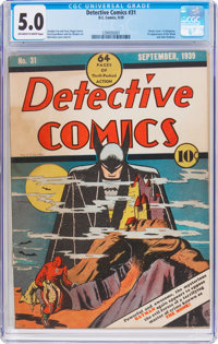 Detective Comics #31 (DC, 1939) CGC VG/FN 5.0 Off-white to white pages