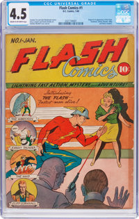 Flash Comics #1 (DC, 1940) CGC VG+ 4.5 Cream to off-white pages