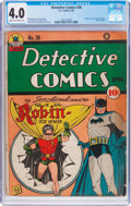 Golden Age (1938-1955):Superhero, Detective Comics #38 (DC, 1940) CGC VG 4.0 Cream to off-whitepages....
