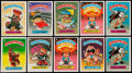 Non-Sport Cards:Sets, 1985 Topps Garbage Pail Kids Series 1 Near Set (68/82) With ThreeExtras....