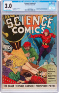 Golden Age (1938-1955):Science Fiction, Science Comics #1 (Fox, 1940) CGC GD/VG 3.0 Off-white pages....