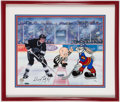 """Hockey Collectibles:Others, Wayne Gretzky Signed """"Looney Tunes"""" Photograph...."""