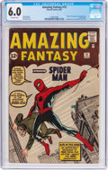 Silver Age (1956-1969):Superhero, Amazing Fantasy #15 (Marvel, 1962) CGC FN 6.0 Off-white pages....