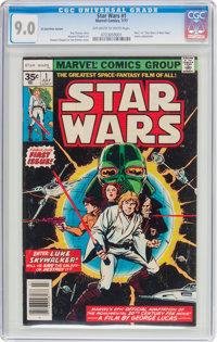 Star Wars #1 35 Cent Price Variant (Marvel, 1977) CGC VF/NM 9.0 Off-white to white pages