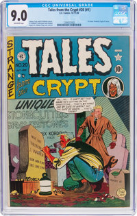Tales From the Crypt #20 (#1) (EC, 1950) CGC VF/NM 9.0 Off-white pages