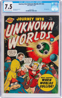 Journey Into Unknown Worlds #37 (#2) (Atlas, 1950) CGC VF- 7.5 Cream to off-white pages