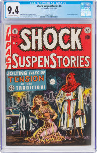 Shock SuspenStories #6 (EC, 1952) CGC NM 9.4 Off-white to white pages