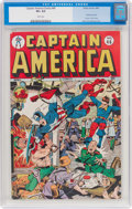 Golden Age (1938-1955):Superhero, Captain America Comics #46 (Timely, 1945) CGC VF+ 8.5 Whitepages....