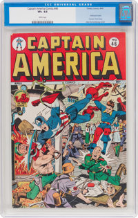 Captain America Comics #46 (Timely, 1945) CGC VF+ 8.5 White pages
