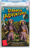 Golden Age (1938-1955):Science Fiction, Strange Adventures #1 (DC, 1950) CGC VG/FN 5.0 Off-white pages....