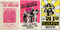 Music Memorabilia:Posters, 5th Dimension - Three Concert Posters (Circa Late 1960s-1970s)....(Total: 3 Items)