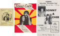 Music Memorabilia:Posters, Sonny & Cher - Two Concert Posters and a Handbill (1960s-early70s).... (Total: 3 )