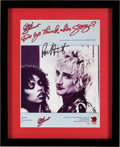 "Music Memorabilia:Autographs and Signed Items, Rod Stewart Signed ""Do Ya Think I'm Sexy"" Sheet Music (1978)...."