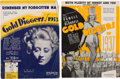 "Movie/TV Memorabilia:Documents, A Joan Blondell Set of Personally-Owned Pieces of Sheet Music from""Gold Diggers of 1933"" and ""Gold Diggers of 1937.""... (Total: 2 )"