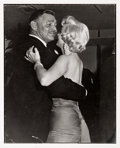 Movie/TV Memorabilia:Photos, A Marilyn Monroe and Clark Gable Black and White Photograph by JeanHoward, 1954, 1989....