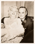 Movie/TV Memorabilia:Photos, A Marilyn Monroe and Jean Negulesco Black and White Photograph byJean Howard, 1953....