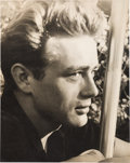 Movie/TV Memorabilia:Photos, A James Dean Rare Black and White Photograph by Jean Howard, Circa 1955....