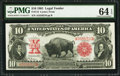 Large Size:Legal Tender Notes, Fr. 115 $10 1901 Legal Tender PMG Choice Uncirculated 64 EPQ.. ...