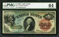 Large Size:Legal Tender Notes, Fr. 18 $1 1869 Legal Tender PMG Choice Uncirculated 64.. ...