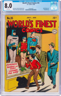 World's Finest Comics #35 (DC, 1948) CGC VF 8.0 White pages