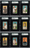 Baseball Cards:Lots, 1909-11 T206 Old Mill SGC-Graded Group (20). ...