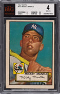 Baseball Cards:Singles (1950-1959), 1952 Topps Mickey Mantle #311 BVG VG-EX 4....