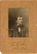 Boxing Collectibles:Autographs, Circa 1917 John L. Sullivan Signed 19th Century Imperial CabinetPhotograph....