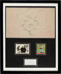 "Baseball Collectibles:Others, 1940's Morris ""Moe"" Berg Hand Drawn Baseball Diamond Sketch, Goudey Card & United States Government Business Card Display. ..."