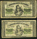 Canadian Currency: , DC-1b-i 25¢ 1870;. DC-1c 25¢ 1870. ... (Total: 2 notes)