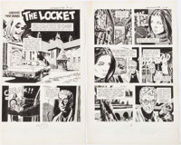 """Al Williamson and Carlos Garzón Grimm's Ghost Stories: """"The Locket"""" Complete 6-Page Story Original Art..."""