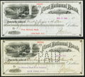 Miscellaneous:Other, Two 1895 Checks with Vignettes - First National Bank of Helena,MT.. ... (Total: 2 items)