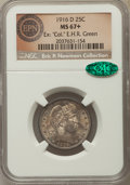 Barber Quarters, 1916-D 25C MS67+ NGC. CAC. NGC Census: (11/1). PCGS Population:(18/0). CDN: $2,850 Whsle. Bid for problem-free NGC/PCGS MS...